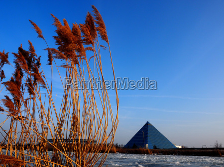 pyramid on the main danube canal