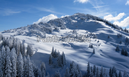 snowy mountain in the alps