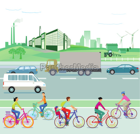 traffic and environment illustration