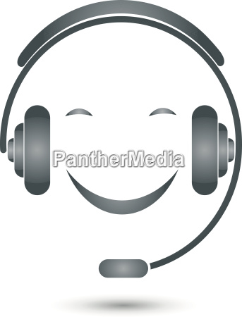 person smile face headset