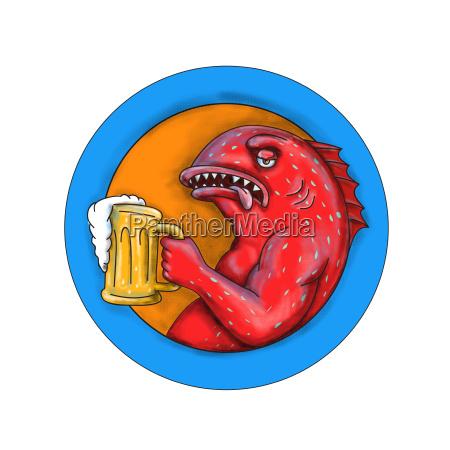 leopard, coral, grouper, beer, mandala - 23377505