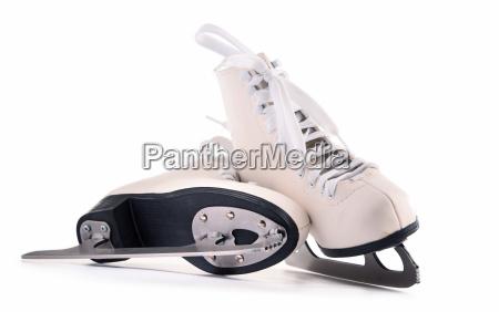 pair of figure skates isolated on