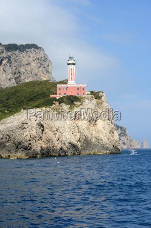 punta carena lighthouse on the island