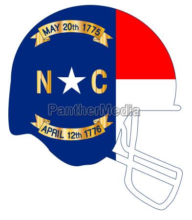 north carolina state flag football helmet