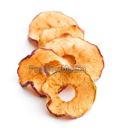 tasty dried apple slices