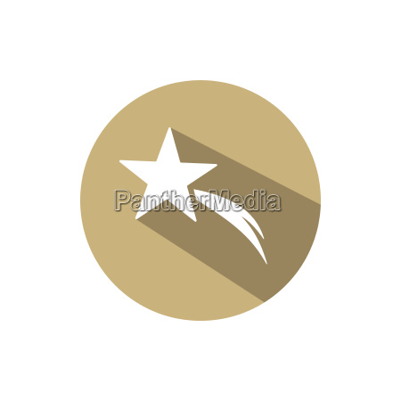 christmas star on a golden circle