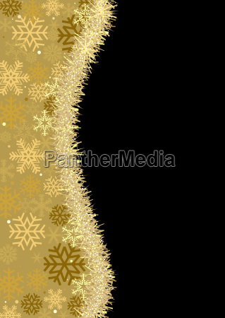 christmas background with gold christmas chain