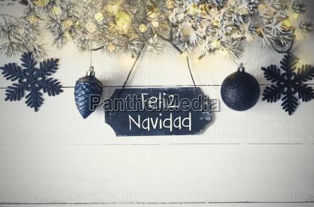 plate fairy light feliz navidad means