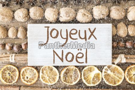 food flat lay joyeux noel means