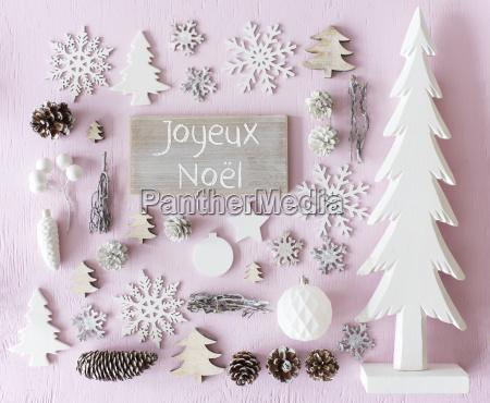 decoration flat lay joyeux noel means