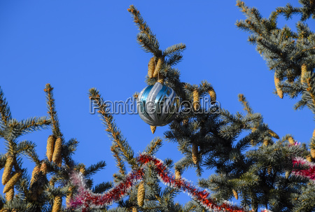 decorations new year tree tinsel and