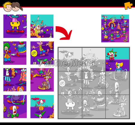 jigsaw puzzles with clown characters