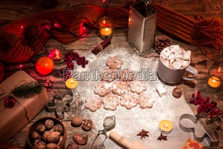homemade bakery making gingerbread cookies in