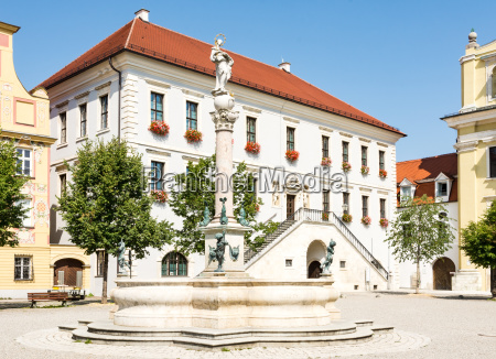 historic square in the city neuburg