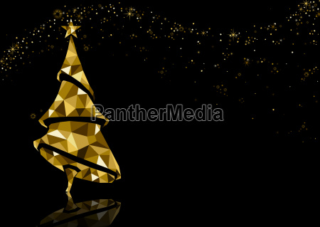 golden triangle christmas tree background