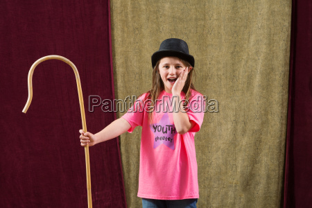 shocked young actress wearing hat