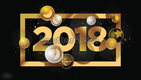 new year 2018 design