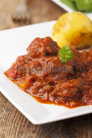 hungarian goulash with potatoes