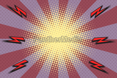 pop art rays lightning background