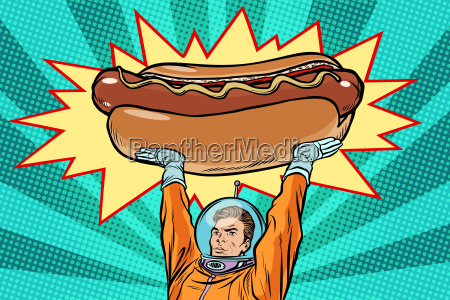 cosmonaut and hot dog fast food