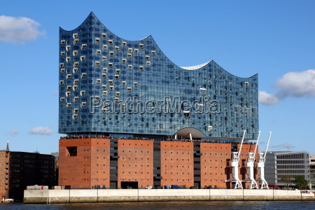 elbphilharmonie in hamburg on october 1