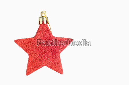 red christmas star on white