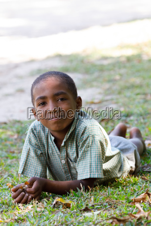 portrait of young malagasy teenager boy