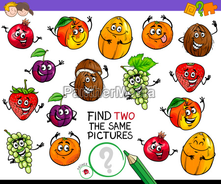 find two the same fruit characters