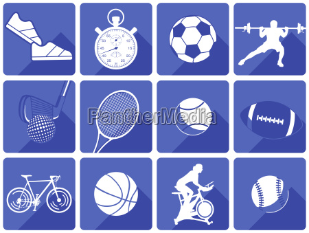 sports play equipment and athletes