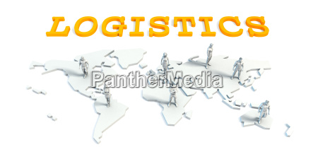 logistics concept with business team