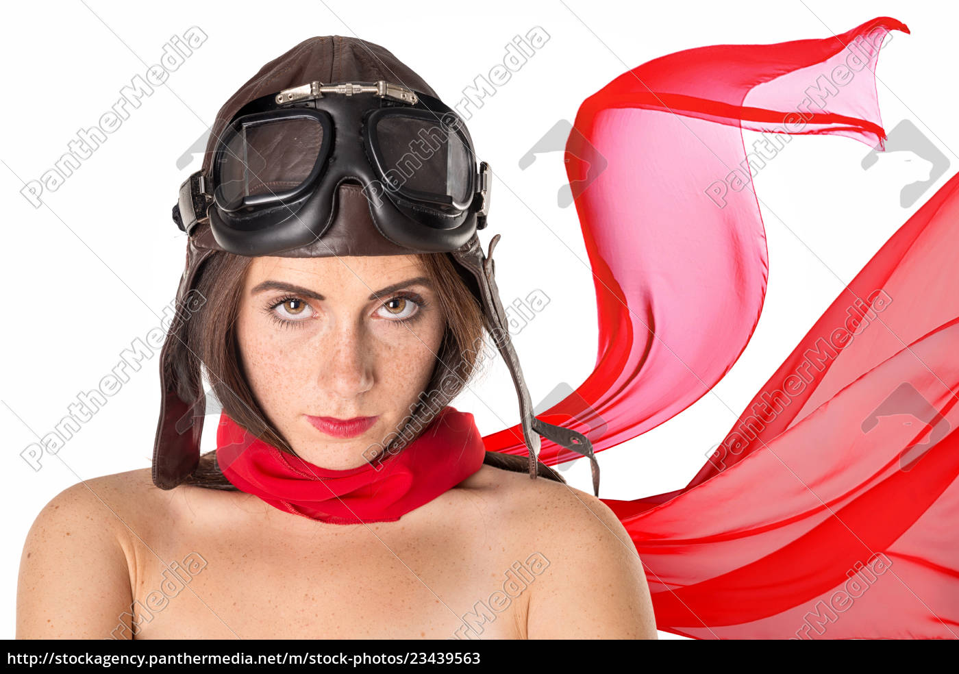 beautiful, girl, aviator - 23439563