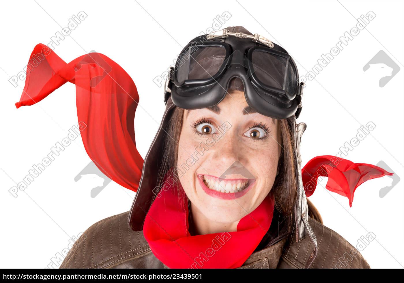 funny, girl, in, aviator, gear - 23439501