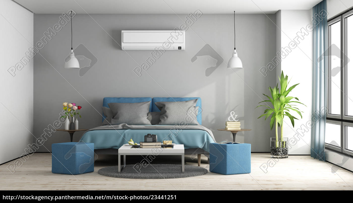 gray, and, blue, master, bedroom - 23441251