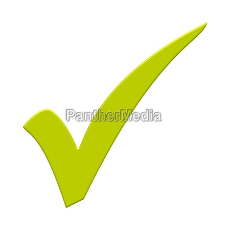 insulated check mark with light green