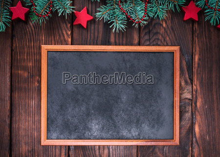 empty wooden frame on a brown