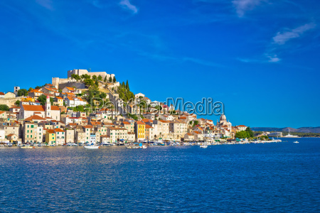 historic town of sibenik waterfront view