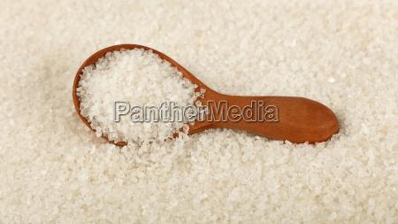 close up wooden scoop spoon in