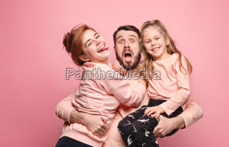 happy, young, family, with, one, little - 23452665