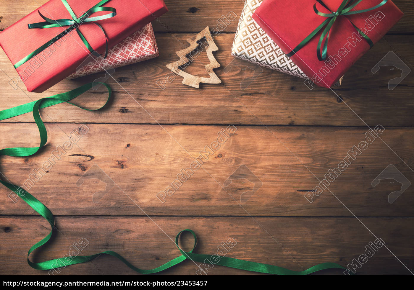 christmas, card, background., presents, and, decors - 23453457