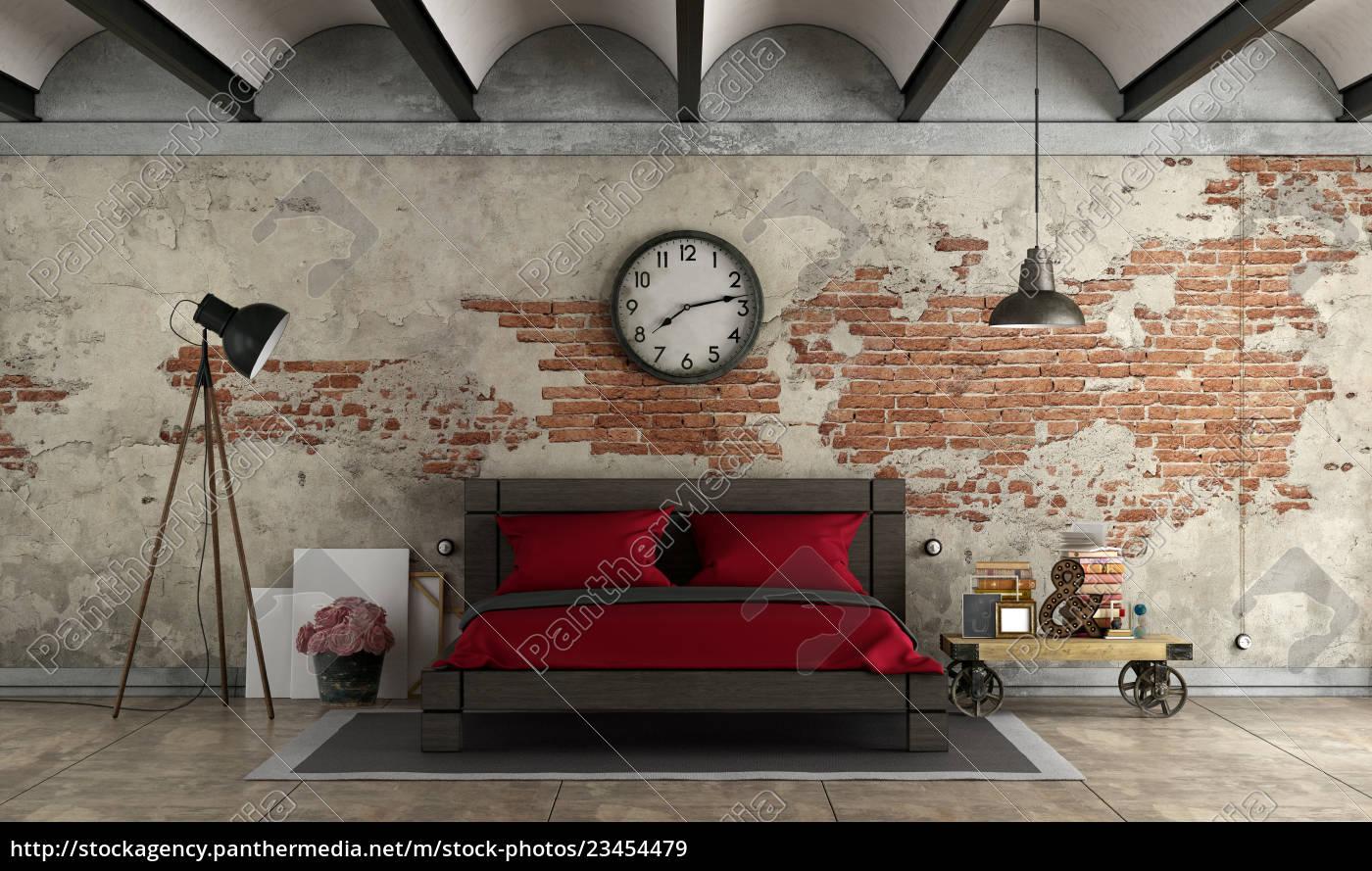 master, bedroom, in, industrial, style - 23454479