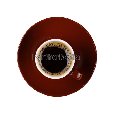full small brown cup of black