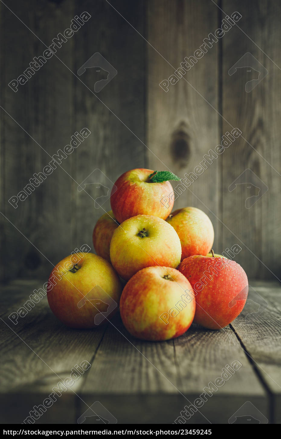 apples, on, wooden, background - 23459245