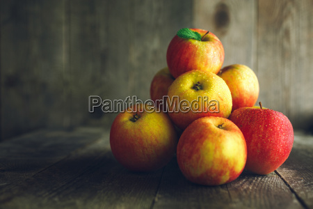 apples, on, wooden, background - 23459249