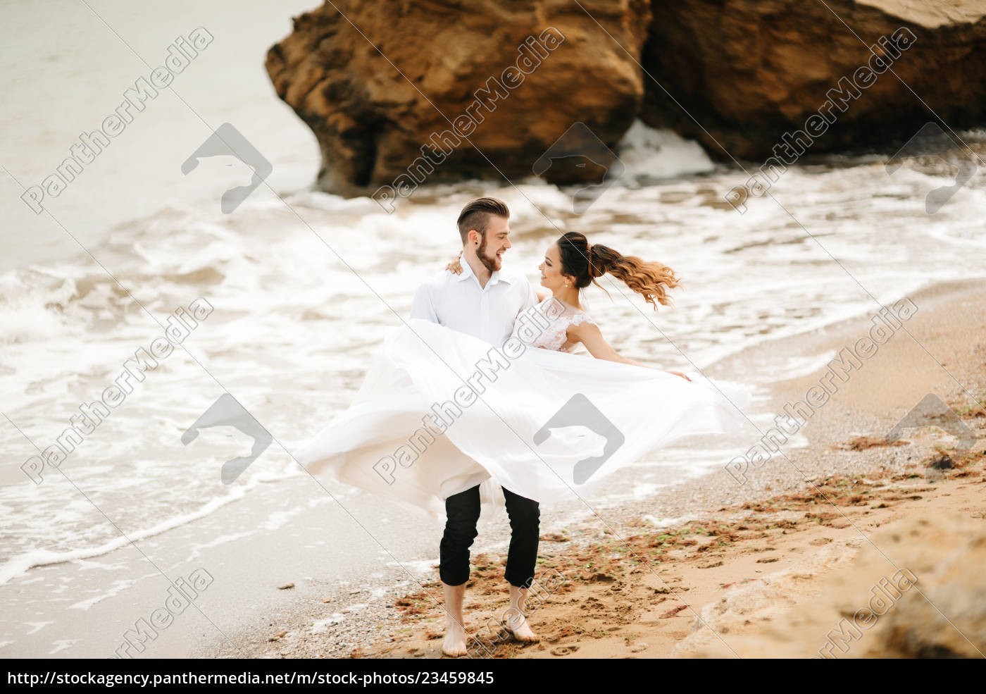 young, couple, groom, with, the, bride - 23459845