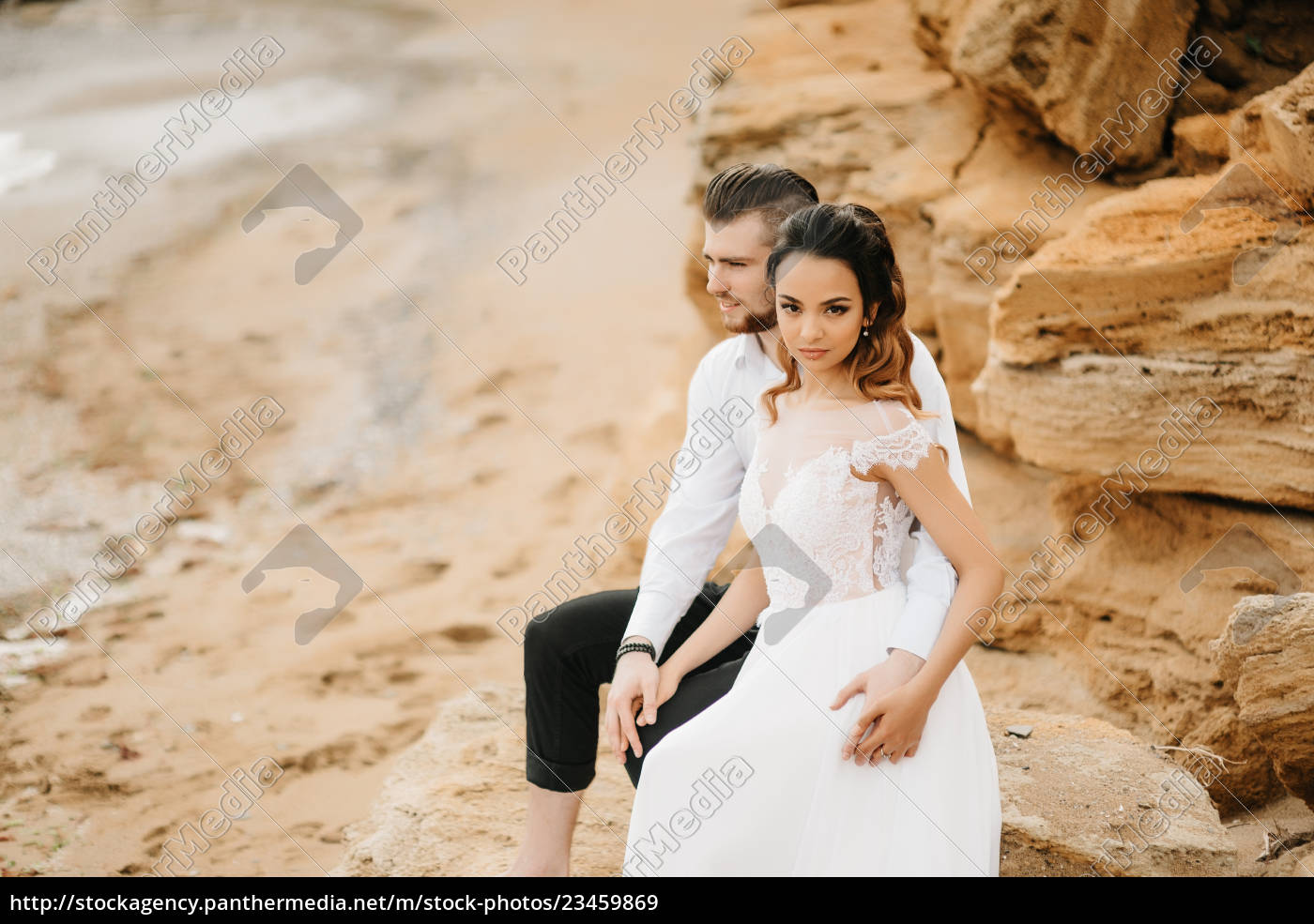 young, couple, groom, with, the, bride - 23459869
