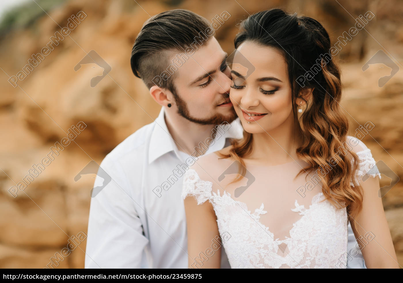 young, couple, groom, with, the, bride - 23459875