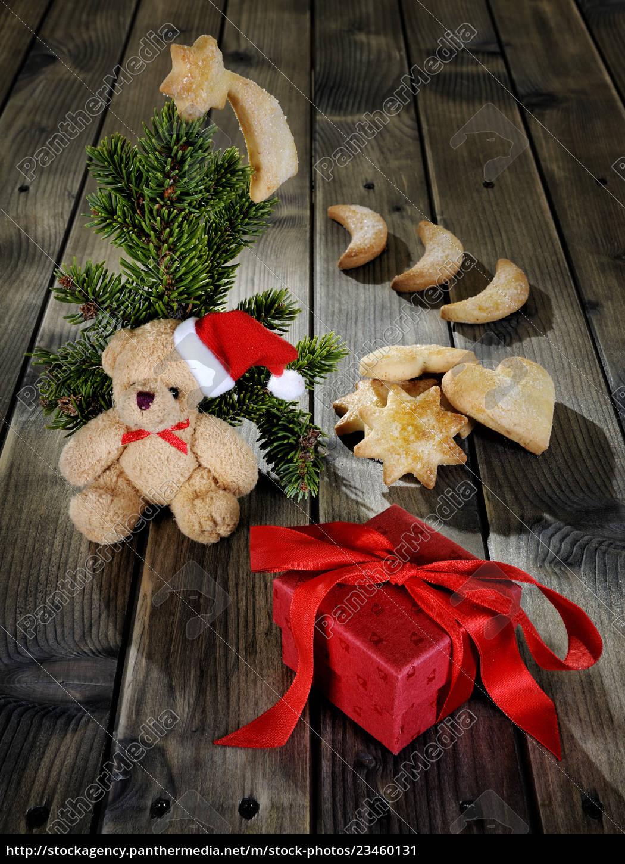 teddy, bear, , cookies, and, a, christmas - 23460131