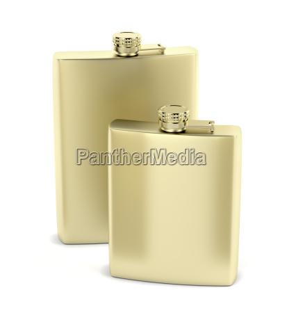 golden hip flasks