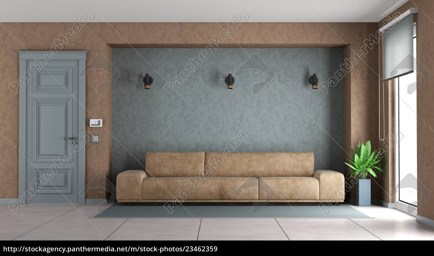 blue, and, brown, living, room - 23462359