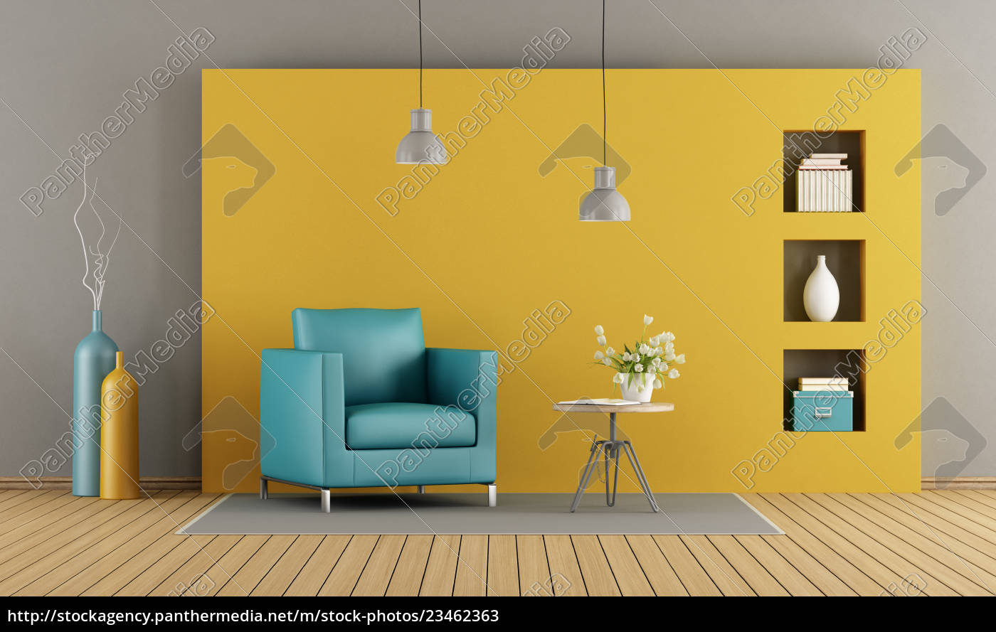 colorful, living, room - 23462363